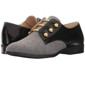 Women's Nine West Jon Oxford Shoes 👞 Grey Black